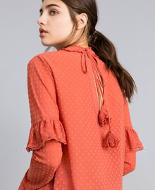 Blouse en fil coupé Rouge «Redwood» Femme SA82GD-01