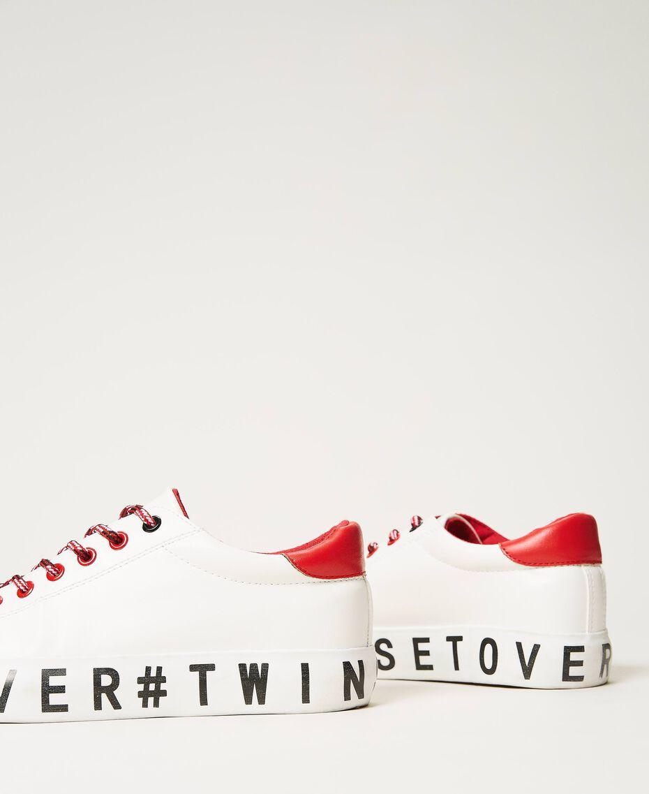Sneakers mit Logo Weiß Frau 202LIPZCC-03