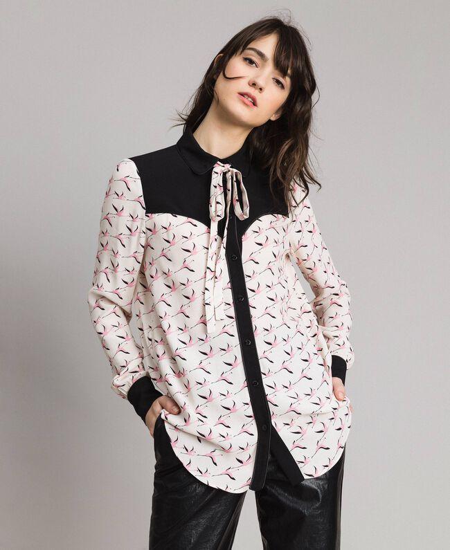 designer fashion 46655 4fa34 Camicia con stampa fenicotteri Donna, Rosa | TWINSET Milano