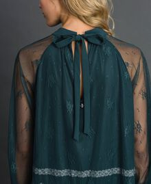 Chantilly lace blouse Forest Green / Creamy White Woman 192ST2112-03