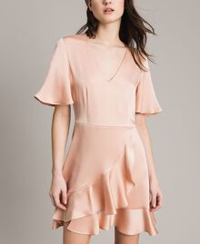 "Flounce and ruffle dress ""Nude"" Beige Woman 191TP2697-05"