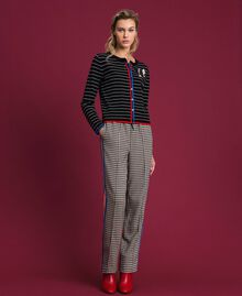 Houndstooth palazzo trousers Lily Houndstooth / Creme Caramel Woman 192MT2051-0T