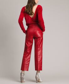 "Pantaloni in similpelle Rosso ""Ruby"" Donna 191TP2550-03"