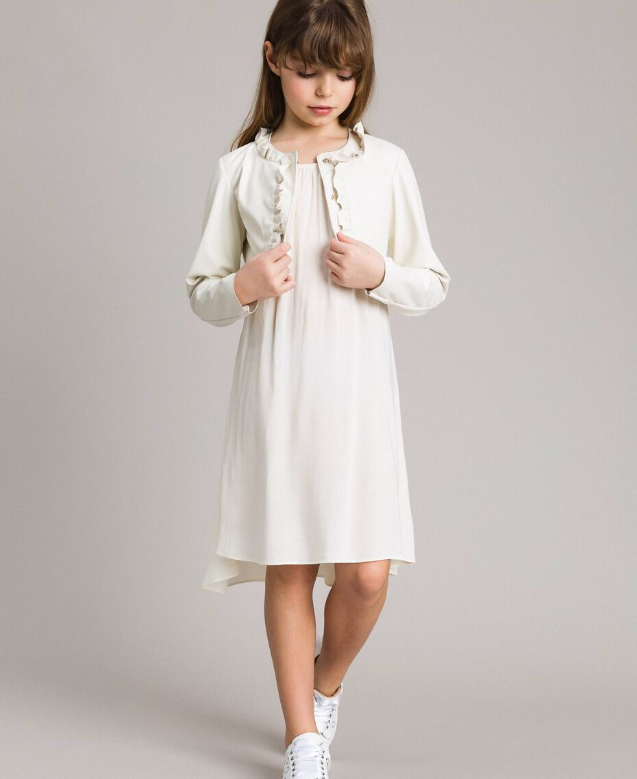 Long dress with lace Pale Cream Child 191GJ2433-0T