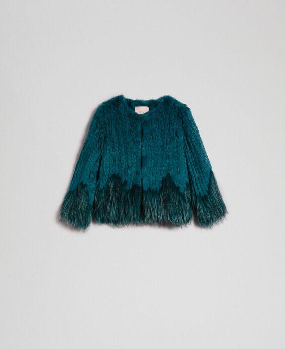 Blouson en fourrure tricot