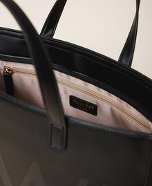 Сумка-шоппер с макси-логотипом Черный женщина 202TB7220-04
