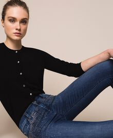 Push up jeans with studs Denim Blue Woman 201MP227J-0T