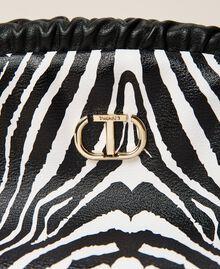 Soft clutch bag with animal print Zebra Print Woman 212TB7231-03