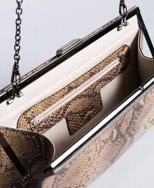 Animal print leather clutch bag Camel Snake Print Woman AA8PMA-04