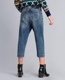 Jeans loose fit in denim soft Denim Blue Donna YA82W1-04