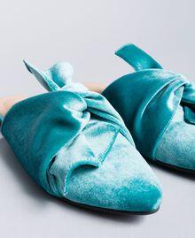 """Mules aus Samt """"Blue Melancholia""""-Azur Frau LA8JFF-04"""