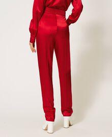 Pantalon en satin Noir Femme 202TP2144-03