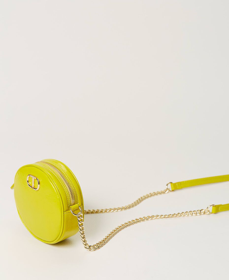 """Leather shoulder bag """"Led"""" Yellow Woman 211TD8032-02"""