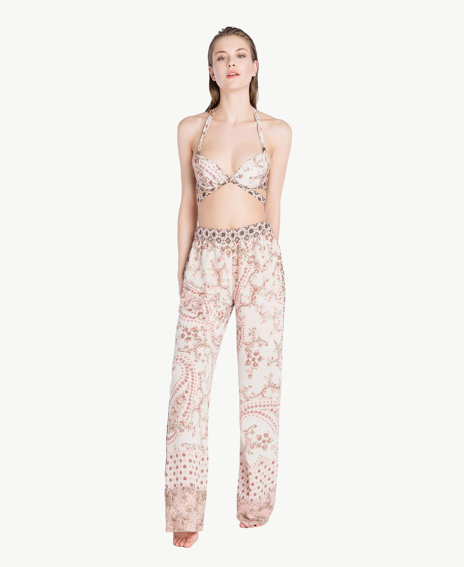 Printed trousers Vegas Pink Patch Print Woman BS8AHH-02