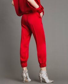 "Drawstring jogging trousers ""Ruby"" Red Woman 191TP2692-03"