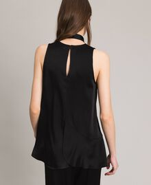 Flared top with bow Black Woman 191TP2696-03