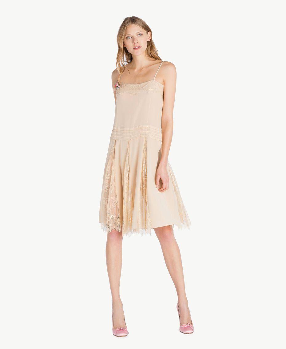Silk dress Ecrù Woman PS82EC-01