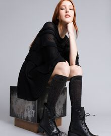 Lurex stockings Black Woman QA8TKC-0S