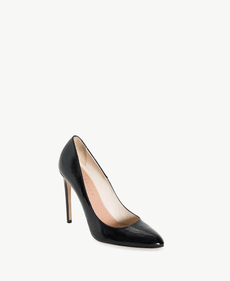 TWINSET Patent leather court shoes Black Woman CS8PLA-02