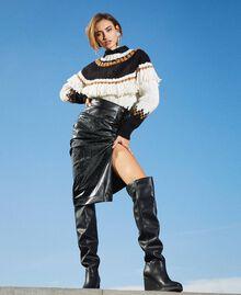 Stivali cuissardes con zeppa Nero Donna 202MCT170-0S