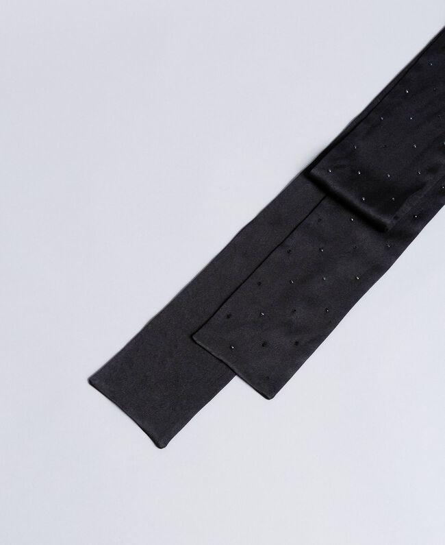 Écharpe avec petits clous Noir Femme OA8T1J-01