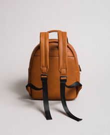 Faux leather backpack with tassel Leather Brown Woman 191TA7603-03