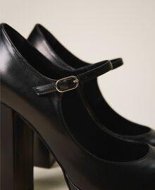 "Platform leather court shoes ""Nude"" Beige Woman 202TCP150-04"