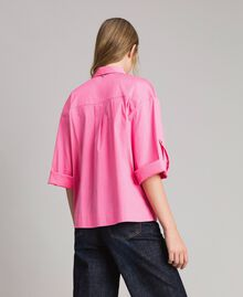 Poplin boxy shirt Pink Camellia Woman 191MP2211-03