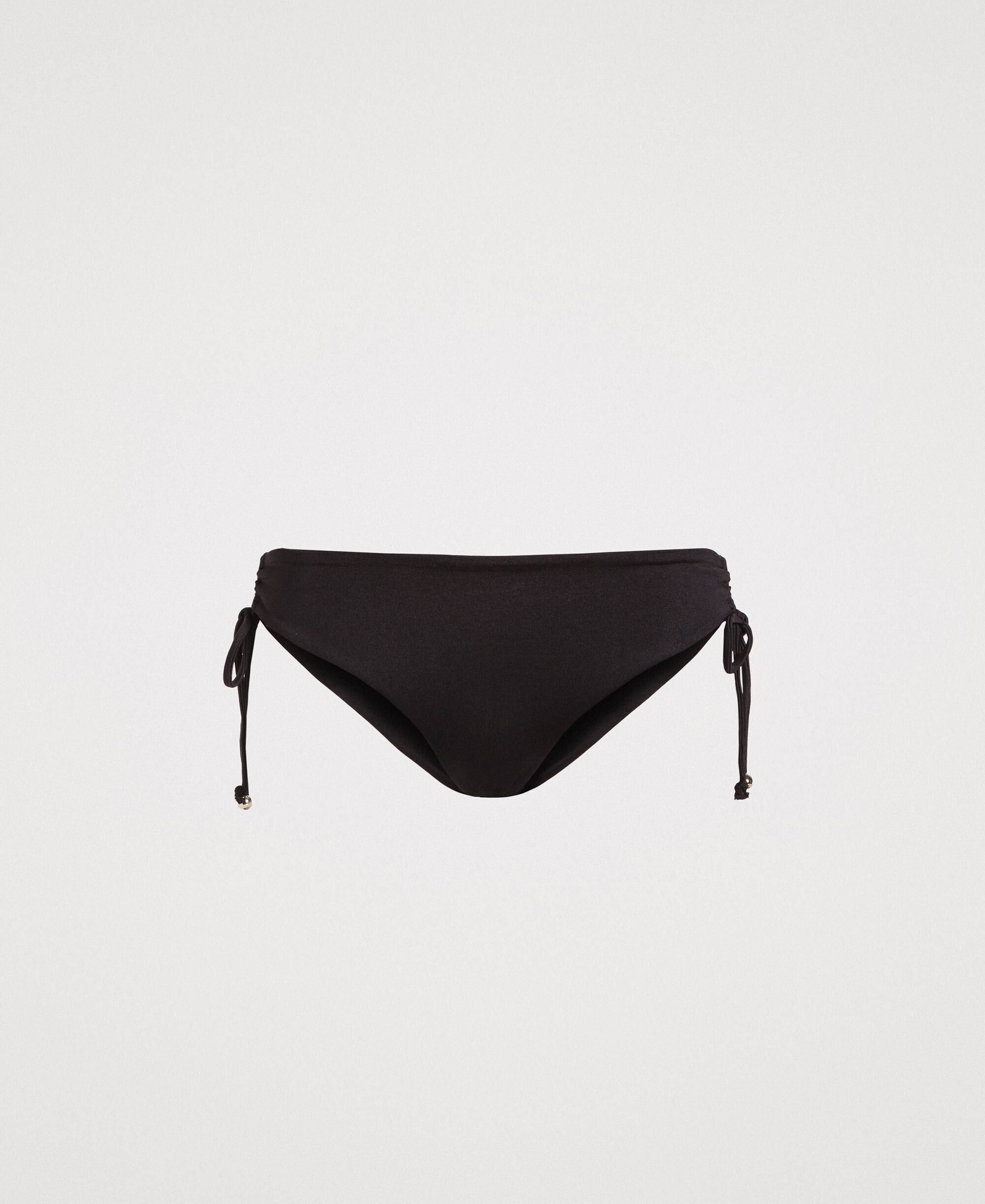 56d6ec33a4bd Braga de bikini con cordón ajustable a un lado Mujer, Negro ...