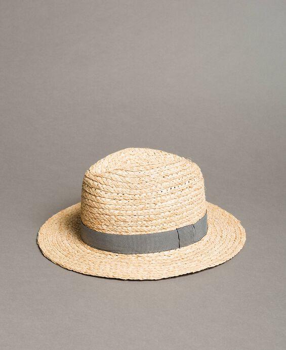 Chapeau de paille avec ruban