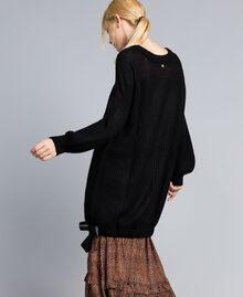 Mini-robe en mohair mélangé Noir Femme SA83BB-04