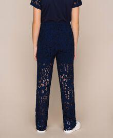 Macramé lace trousers Night Blue Child 201GJ2QL0-03