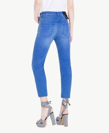Girlfriend-Jeans Denimblau Frau JS82WQ-03