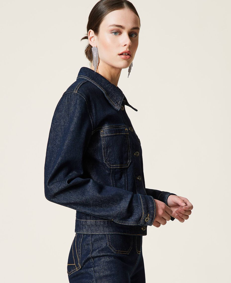 Giacca 'Gold' in jeans Denim Rinse Donna 212AP2143-02