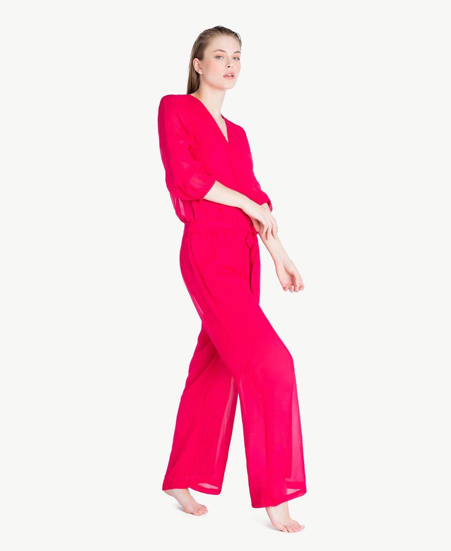 """Viscose jumpsuit """"Voluptuous"""" Pink Woman MS8FGG-03"""
