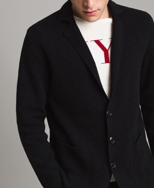 Cotton-blend knit jacket Black Man 191UT3090-04