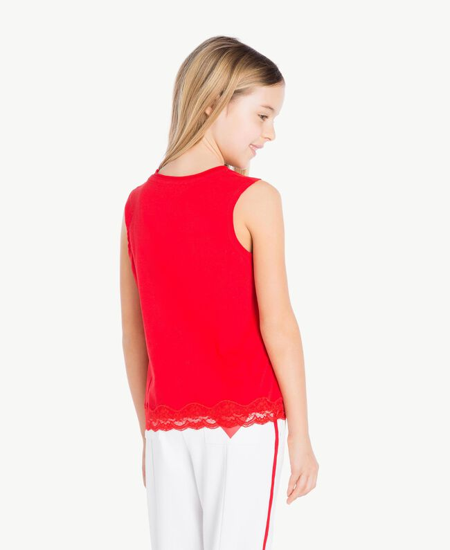 Jersey tank top Pomegranate Red Child GS82BD-04
