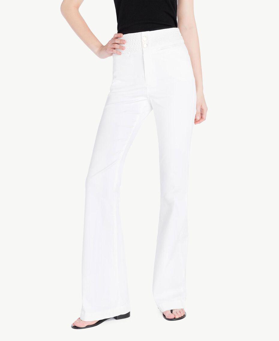 Pantalón de algodón Blanco Mujer TS82GA-01