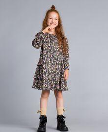 Robe en viscose imprimée Imprimé Petite Fleur Enfant GA82TC-0S