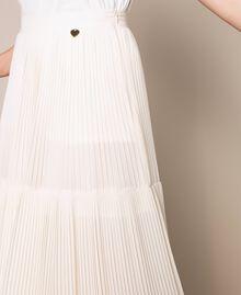 Брюки из плиссированного жоржета Белый Antique White женщина 201TT2094-05