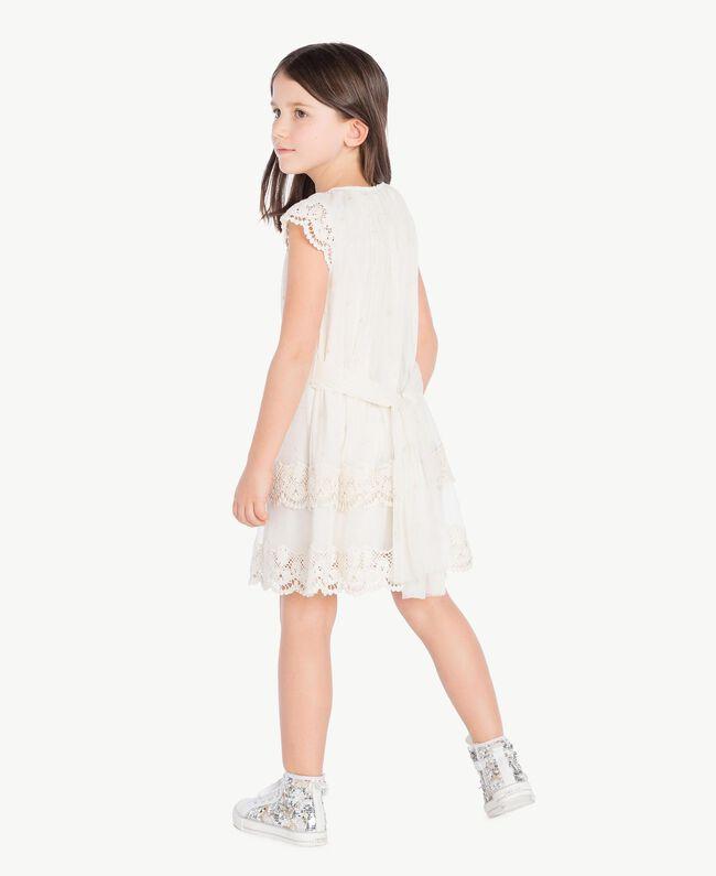 Lace dress Pale Cream Child GS8LAN-04