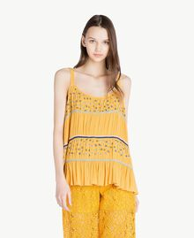Embroidered top Mineral Yellow Woman SS82HC-01