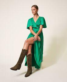 Stivali texani in pelle scamosciata Dark Olive Green Donna 202TCP160-0S