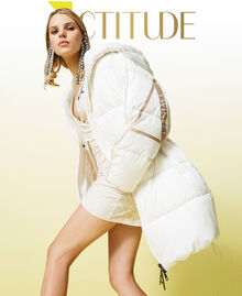'Alum' puffer jacket with logo print Mother Of Pearl Woman 212AT2040-01