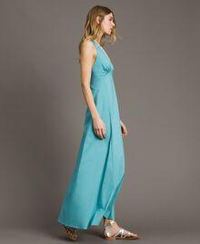 Poplin long dress Mousse Blue Woman 191LB2JBB-03