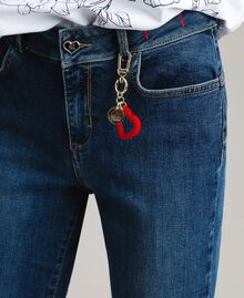 Jeans skinny con charms Denim Blue Donna JCN2V3-04