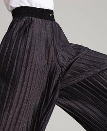 Pantaloni cropped in lurex Nero Donna 191LB23AA-05