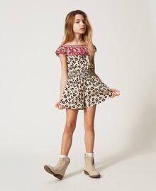 Short animal print jumpsuit Leopard Spot & Paisley Print Child 211GJ2247-01