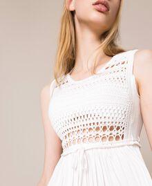 Long dress with crochet Black Woman 201LB36AA-04