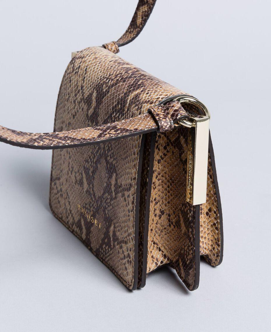 Sac à bandoulière en cuir animalier Imprimé Camel Serpent Femme AA8PG1-02